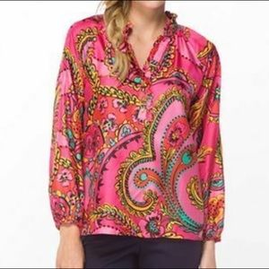Lilly Pulitzer Elsa Silk in Follow the Pink Road